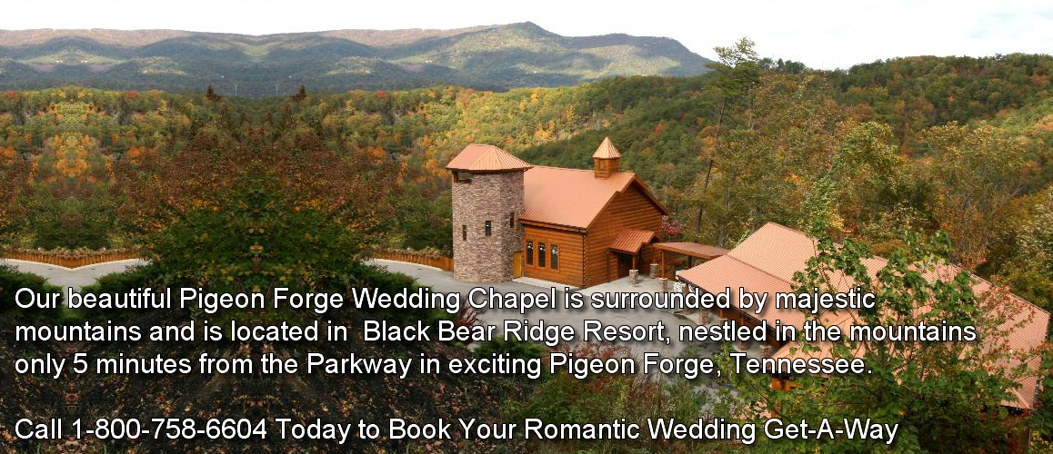 wedding chapel pigeon forge cabins